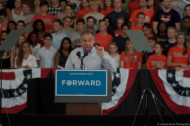Tim Kaine , by Jamelle Bouie,  CC BY-SA 2.0