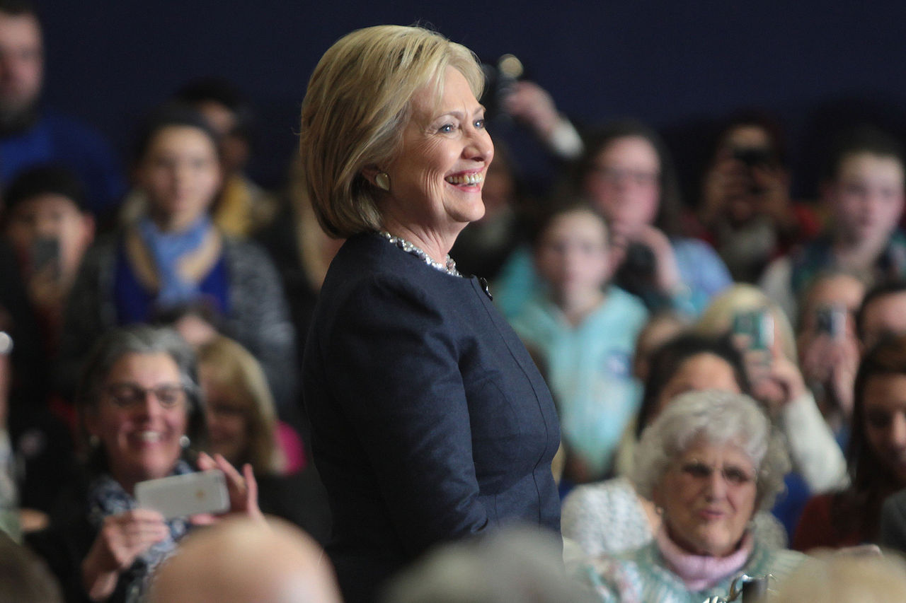 Hillary Clinton engages an audience at a local town hall event. Photo courtesy of Wiki Commons.