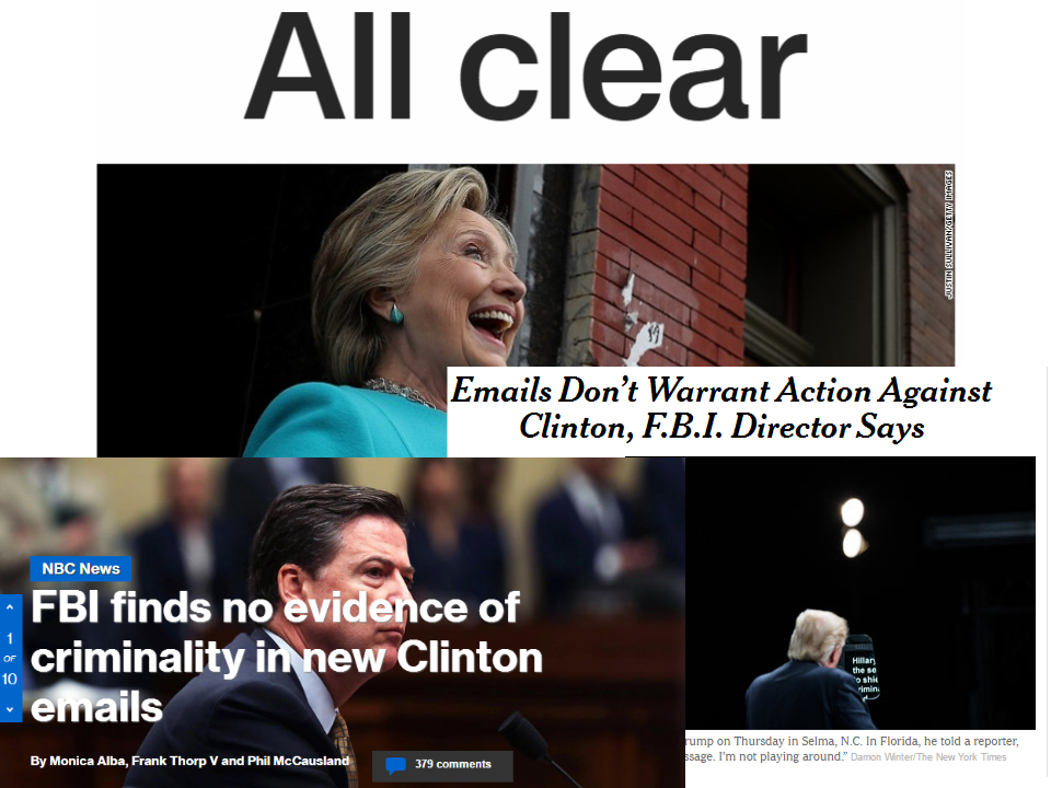 Screenshots of news sites covering the story: CNN (top), NBC News, and New York Times (Right).