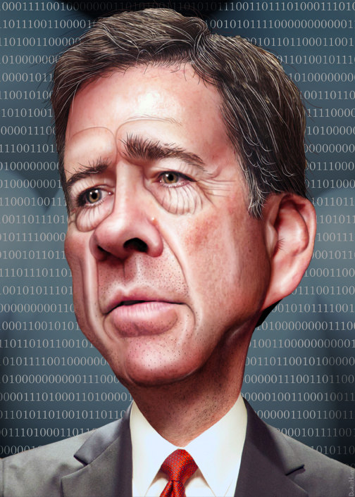 James Comey - Caricature, by DonkeyHotey, Flickr