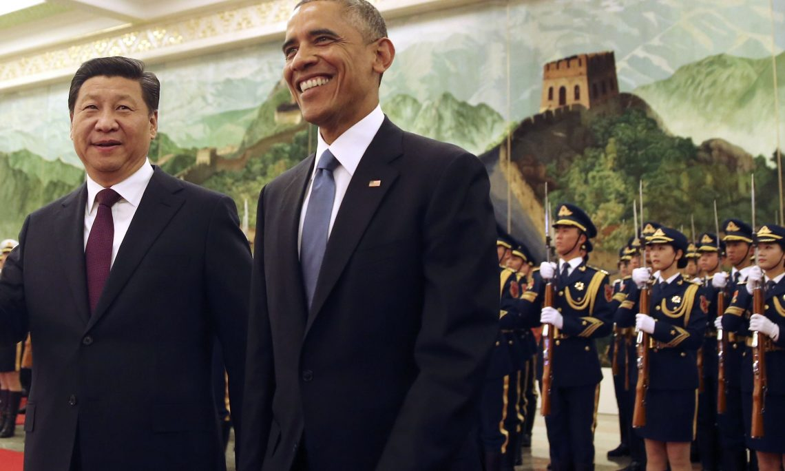 President Obama after he persuaded China to come on board for the Paris Climate Agreement.