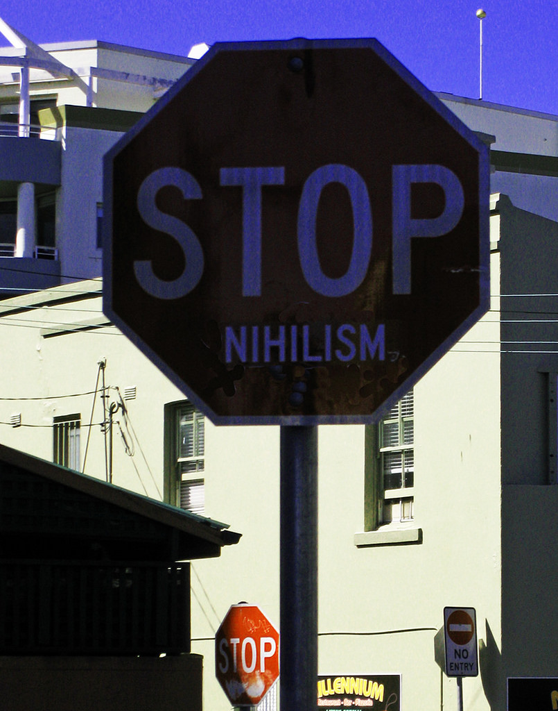 By Newtown grafitti - Flickr: STOP NIHILISM, CC BY-SA 2.0, https://www.flickr.com/photos/newtown_grafitti/5038282133