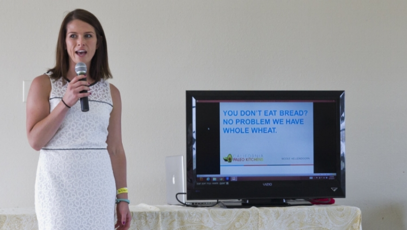 "Nicole Hellendoorn with California Paleo Kitchens presenting ""You Don't Eat Bread? No Problem, We Have Whole Wheat"""