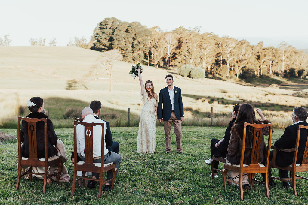 Wedding Ceremony at Wines for Joanie