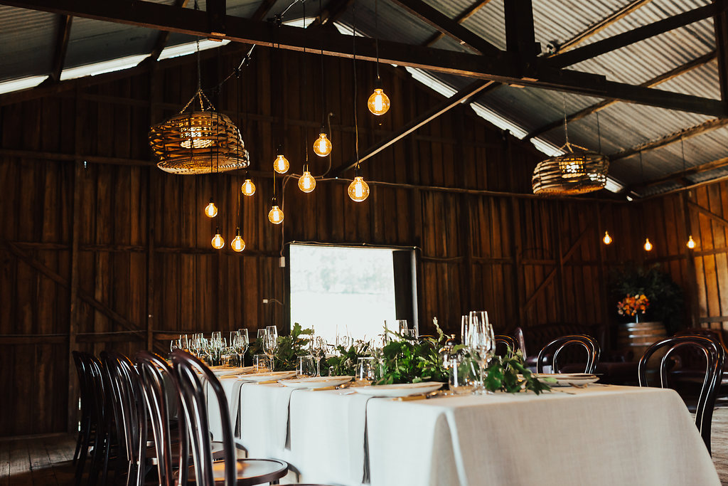 Reception in the Orchard Shed at Wines for Joanie