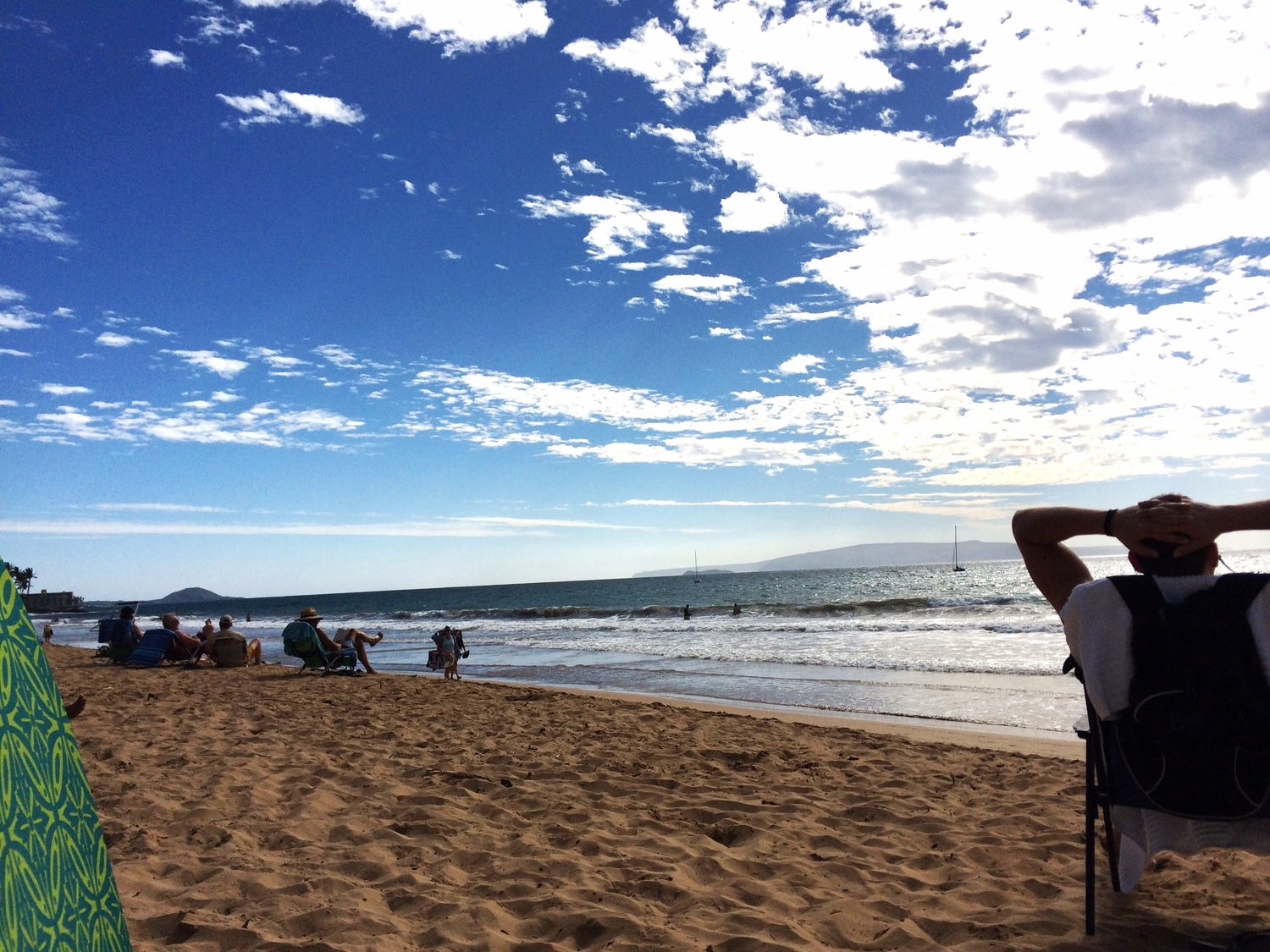 Relaxing on Charley Young Beach in Kehei, Maui