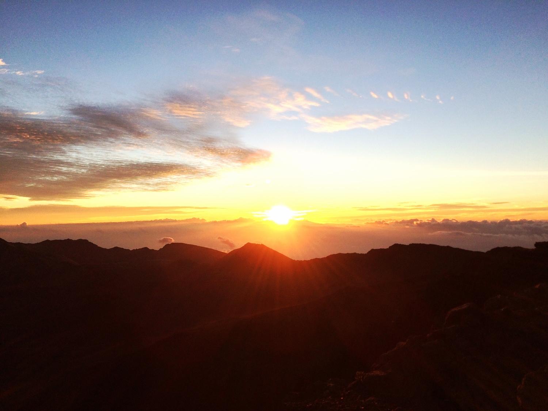 Sunrise over Haleakala Crater