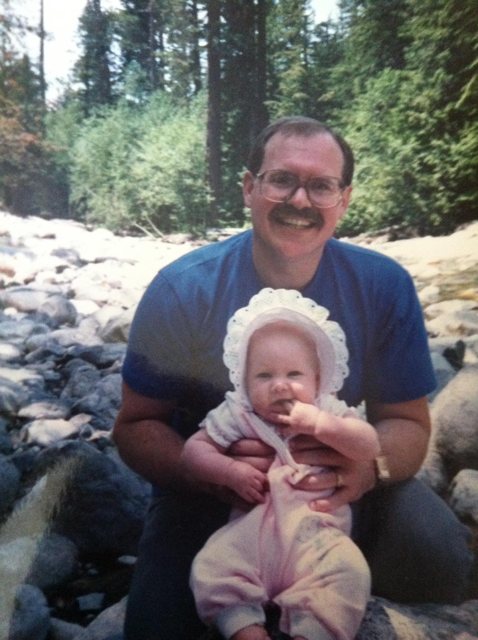 Me & my dad on a hike in wonderful Washington 1987ish