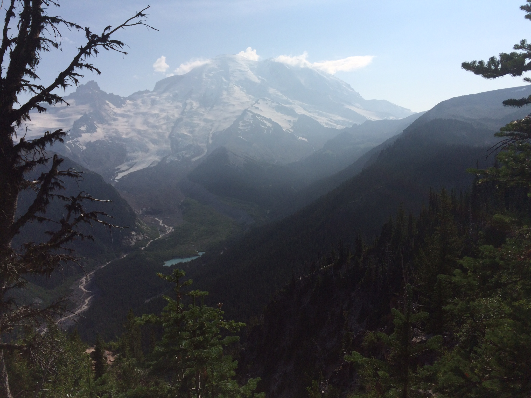 Mount Rainier and Little Tahoma to the left