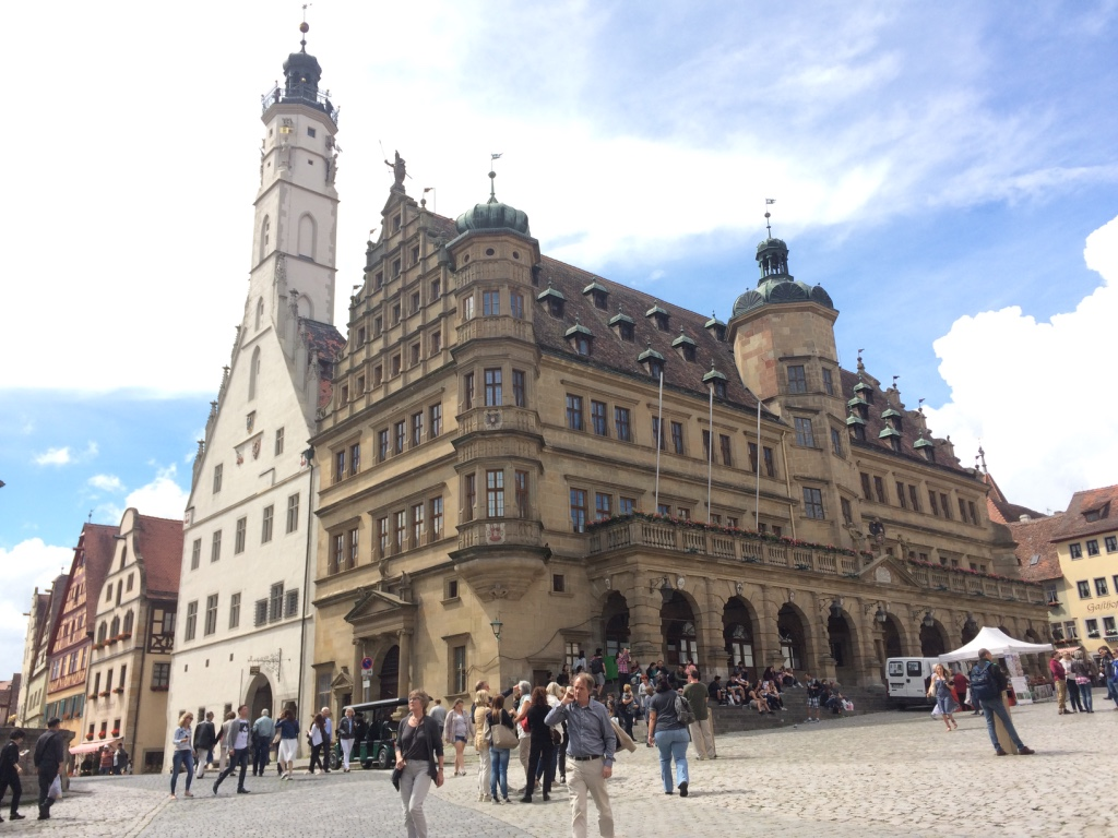 Rothenburg's town hall and main square