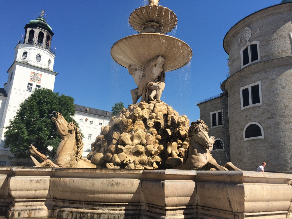 It was a billion degrees when I got to Salzburg so I sat in the cool mist of this fountain and hoovered a coke during my self-guided walking tour.