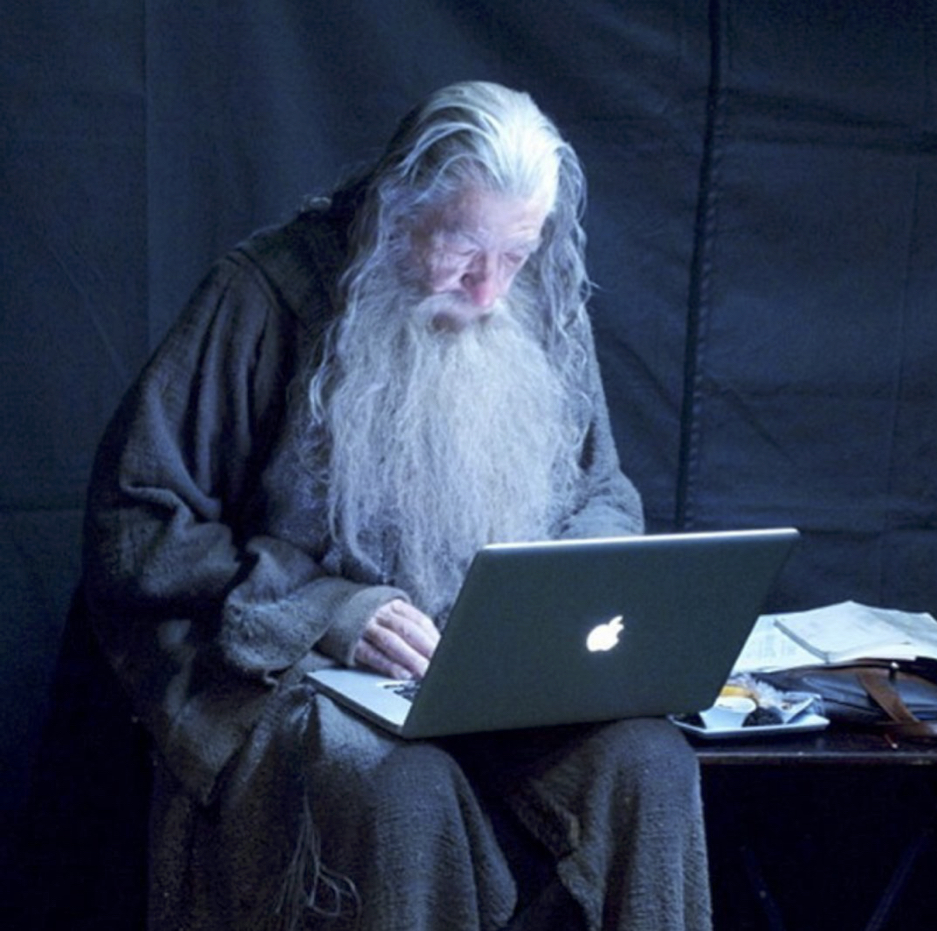 We need guides, but instead we're in the woods alone. We want the wise wizard, Gandalf, to show us the way and answer our questions, but he's as lost as we are.