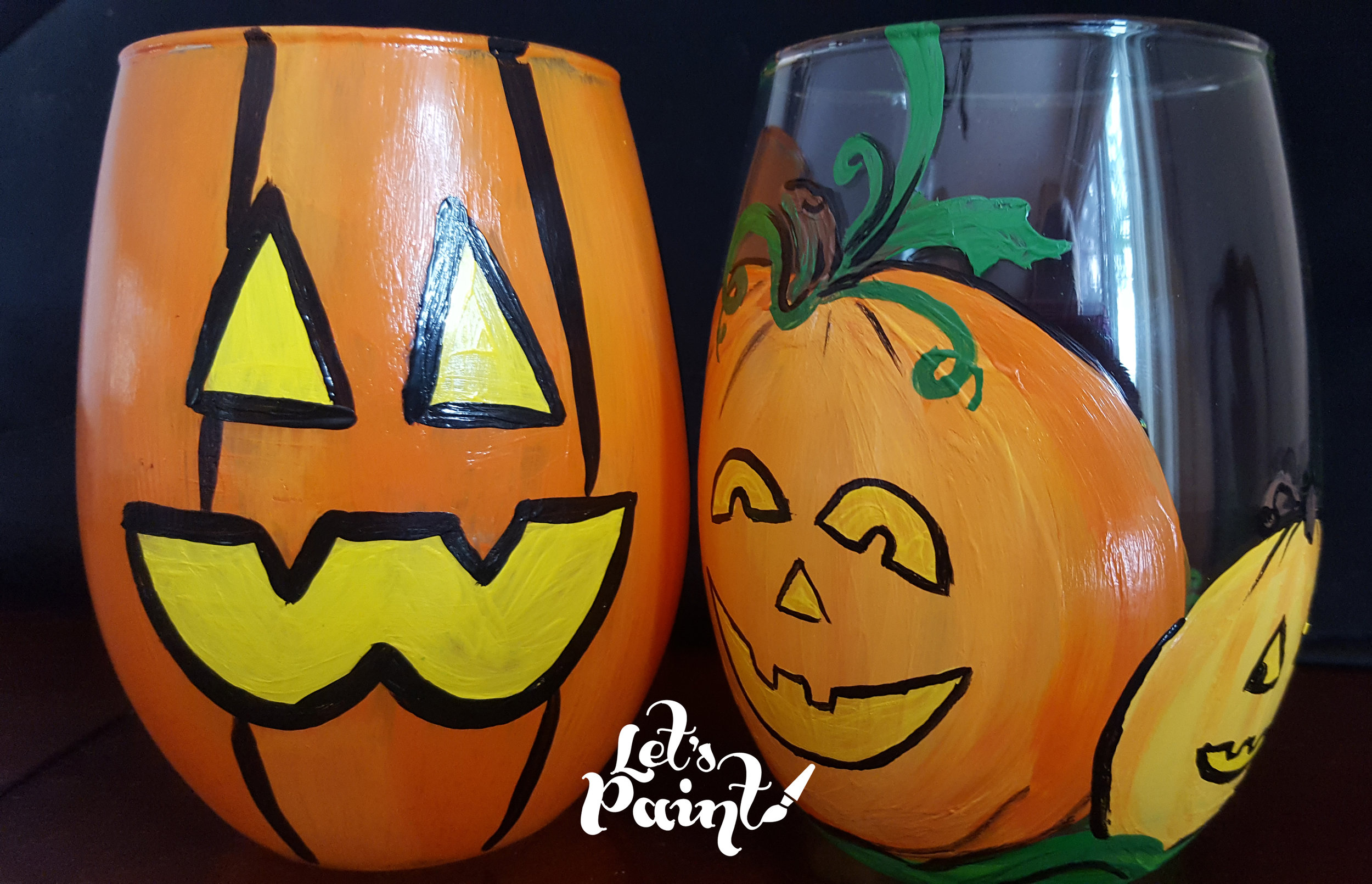 pumpkin painted glasses.jpg