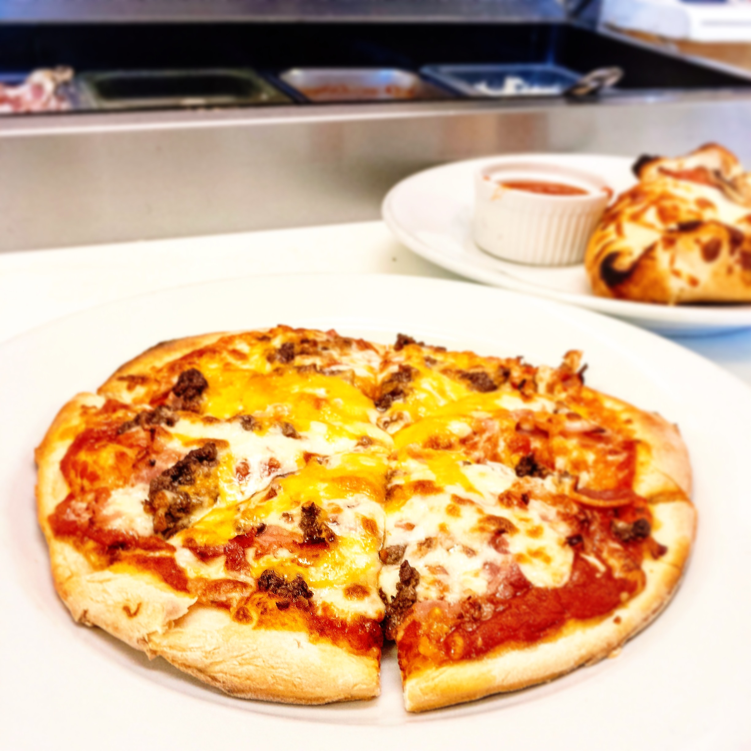 Small Bacon Cheese Burger Pizza