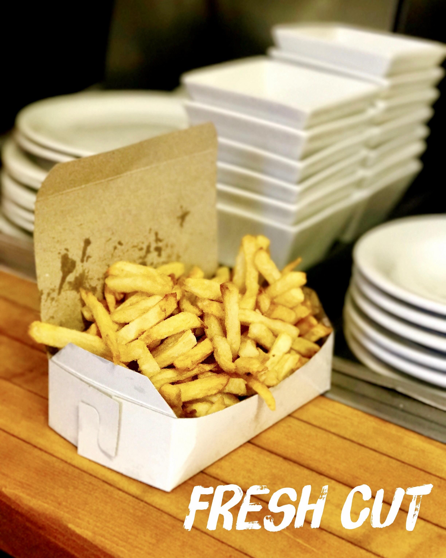 Myrts's Fresh Cut Fries to go.