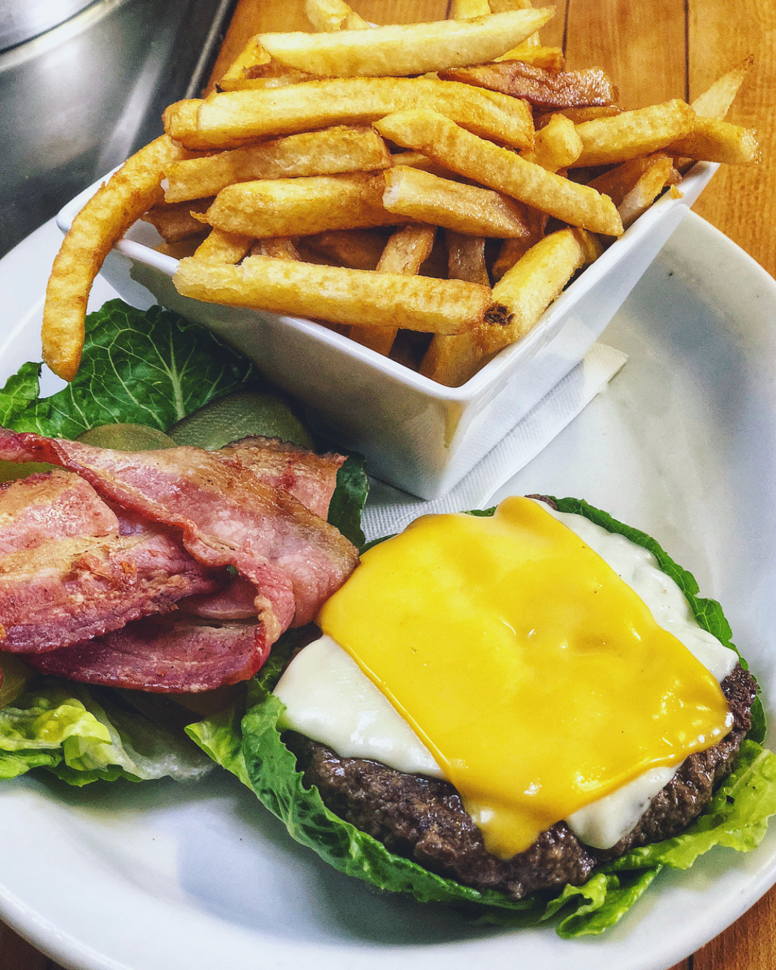 Gluten Free Myrt Burger - Made with a Romain Lettuce Bun also ask about our Gluten Free Pizza Dough.