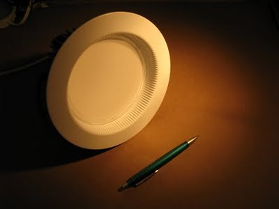 Manufacturers like Cree use a lens to hide the LED emitters and eliminate multiple shadowing