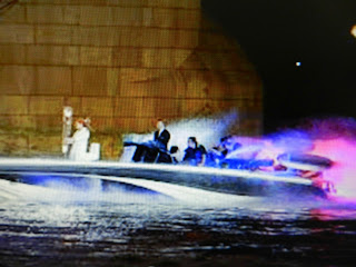LEDs brighten up the torch carrying speed boat