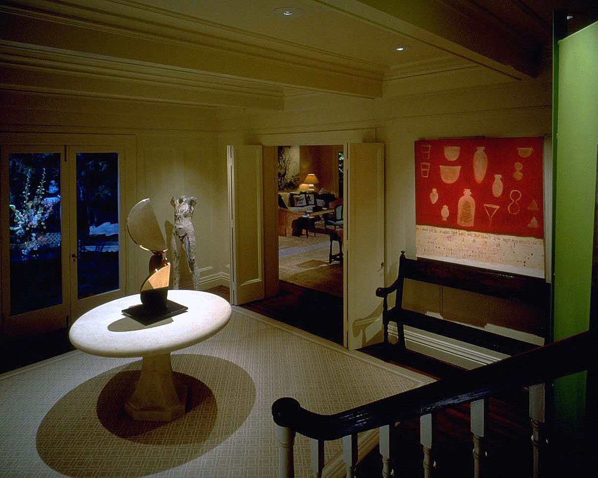 This entry foyer is certainly dramatic, but hardly inviting for people.