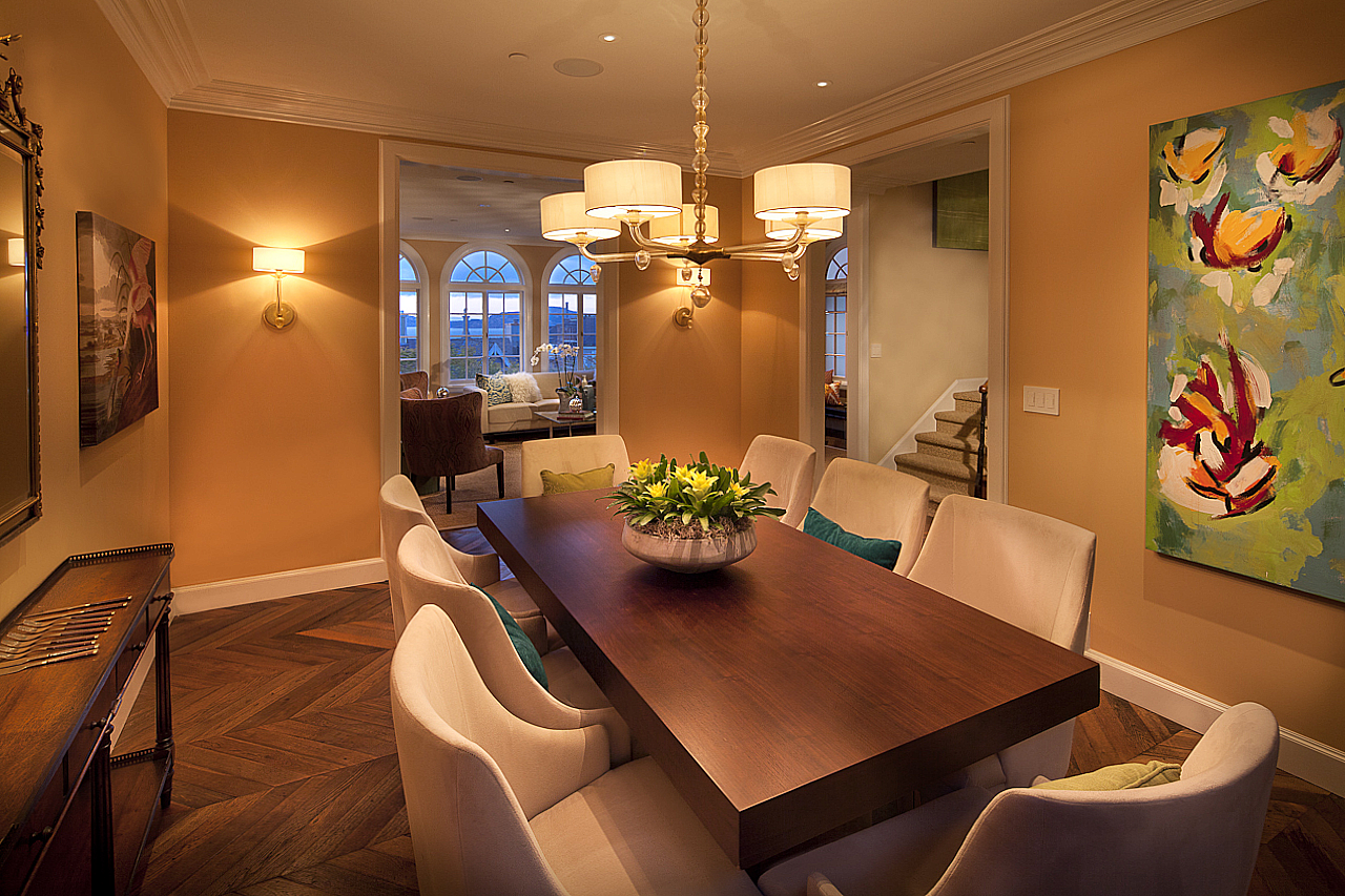 This traditional interior is enhanced by warm inviting all-LED lighting