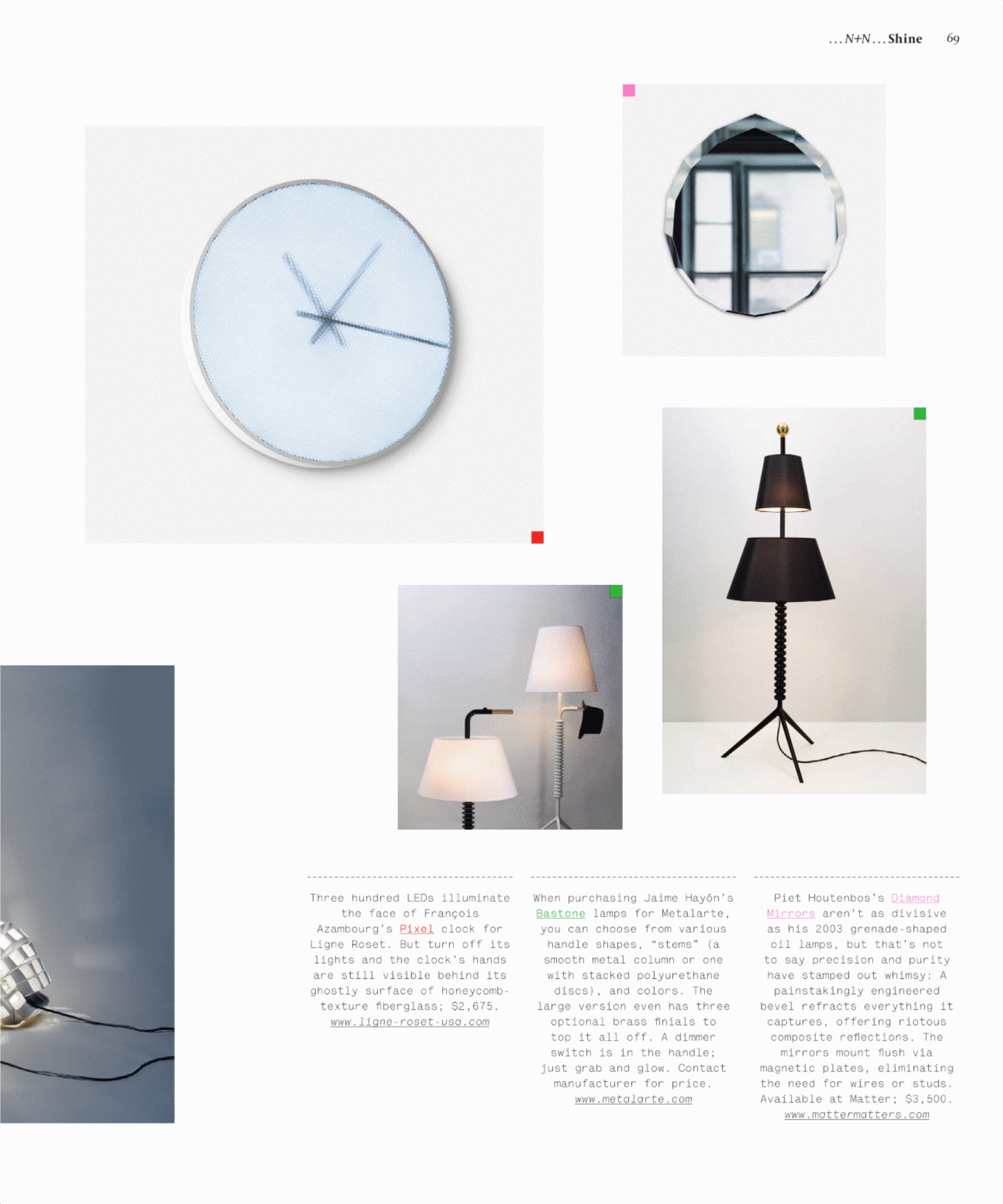 The Diamond Mirror features as one of ID Magazines favorite products of the year.