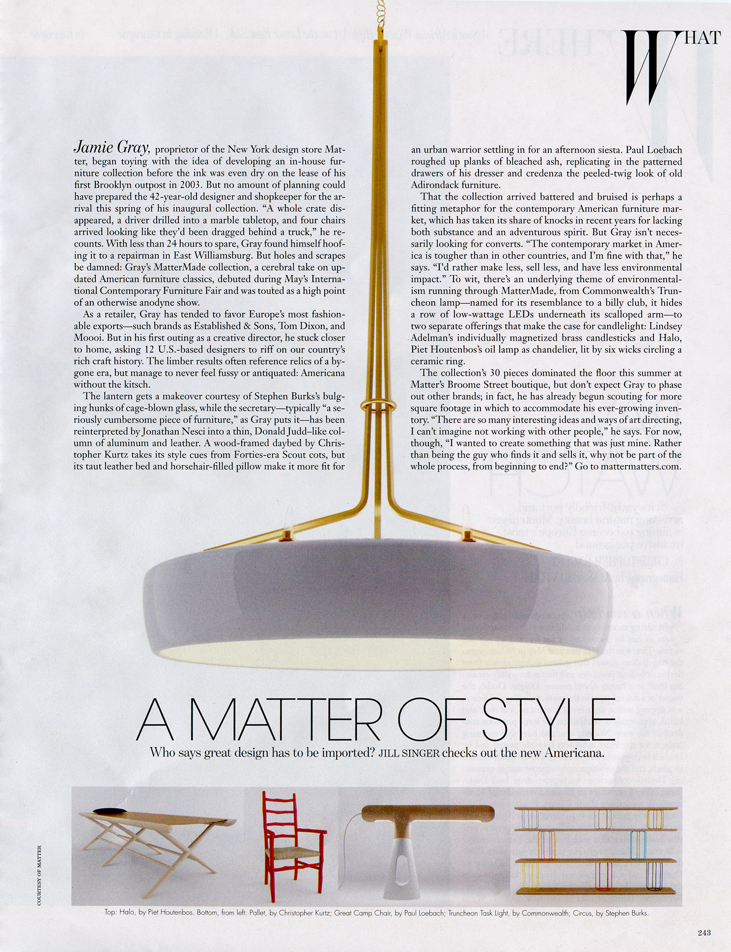 Halo Chandelier featured in W Magazine's September Issue.