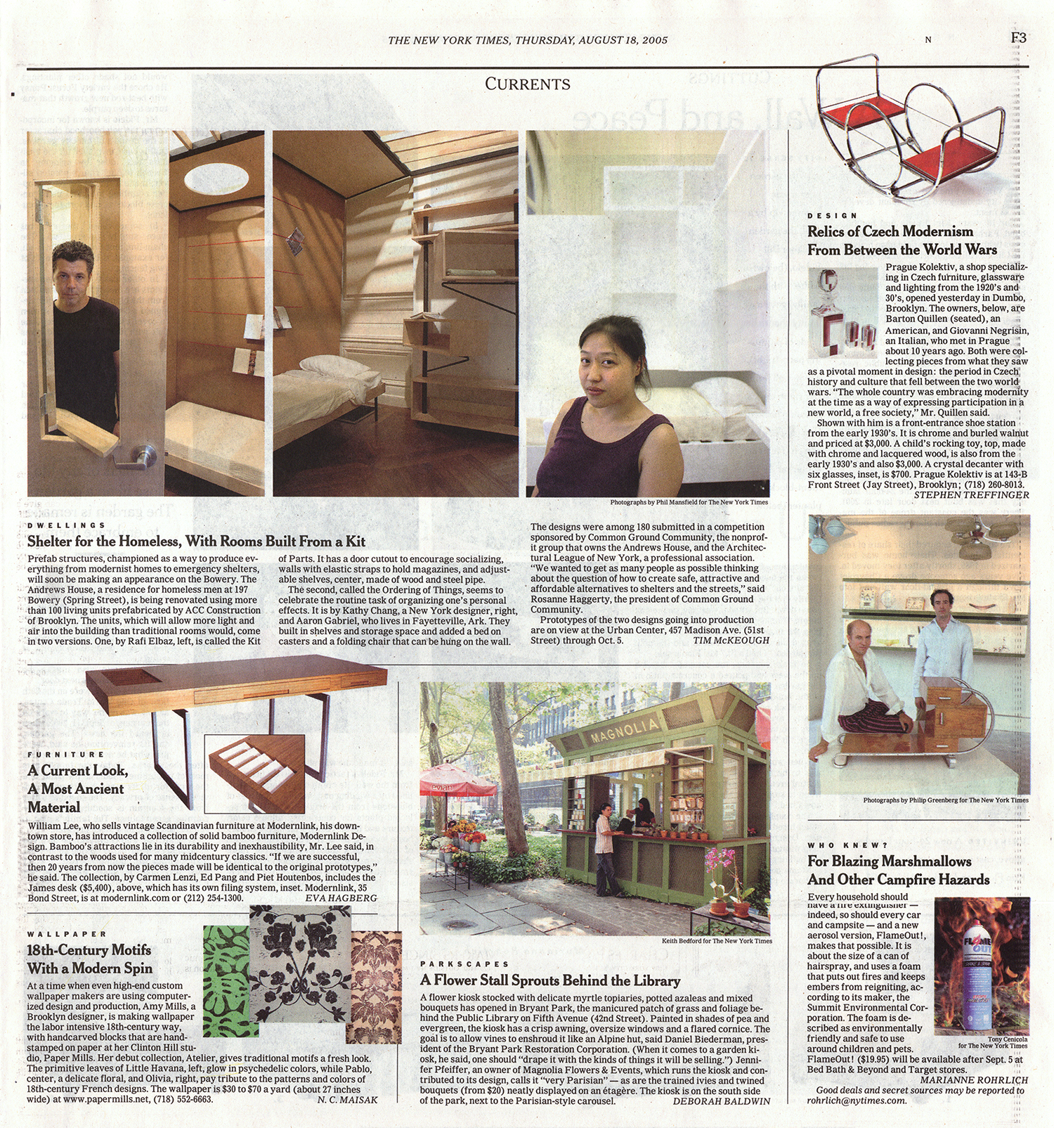 """The Onelink collection of furniture for modernlink designed by Piet Houtenbos featured in The New York Times article, """"A Current Look, A Most Ancient Material"""" by Eva Hagberg."""