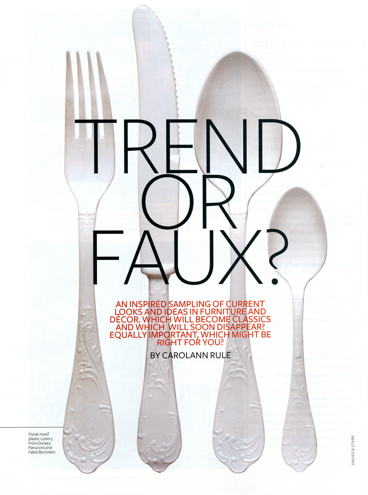 Western Living Trend of Faux
