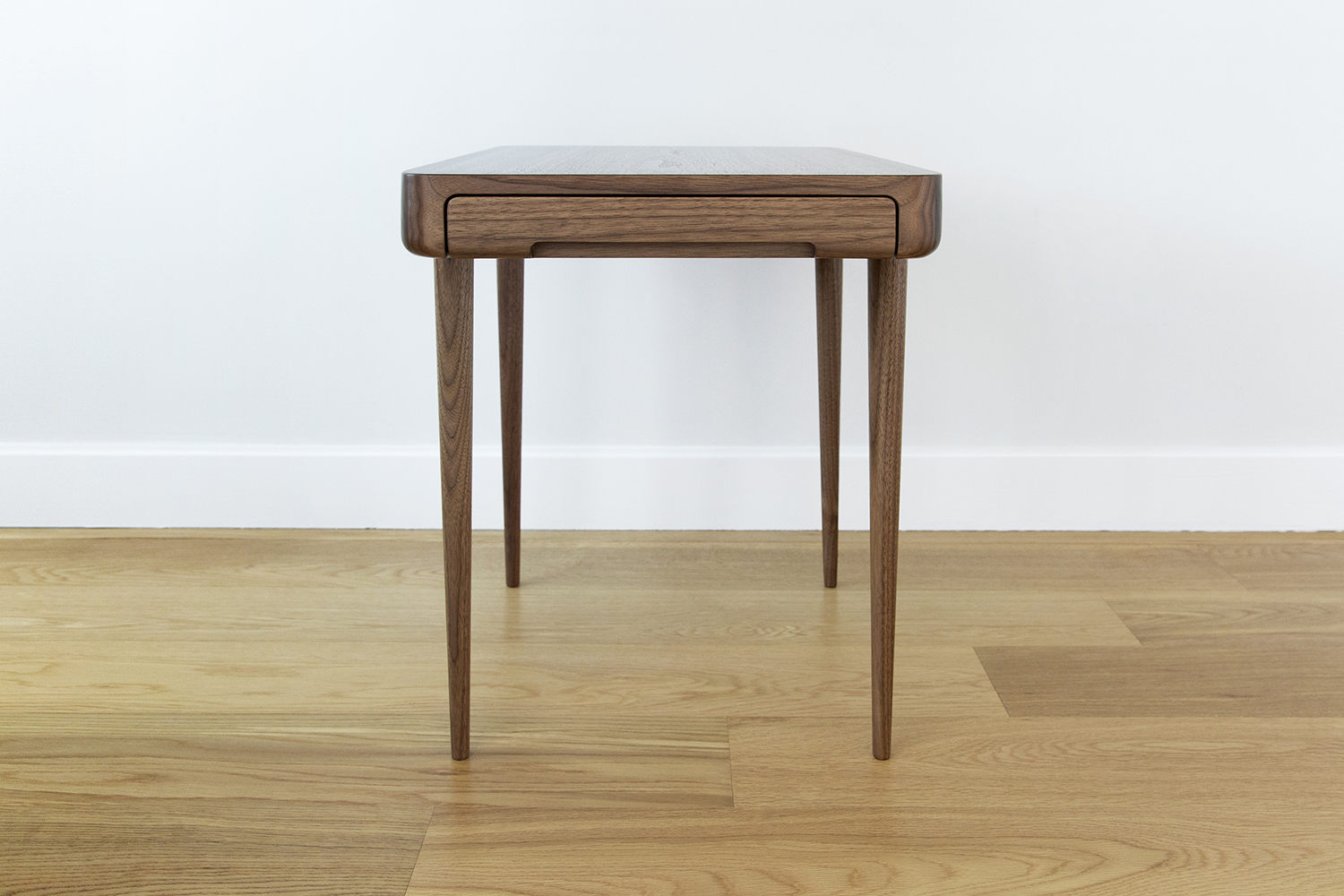 Union Nightstands in Solid Walnut with Felt Lined Drawer