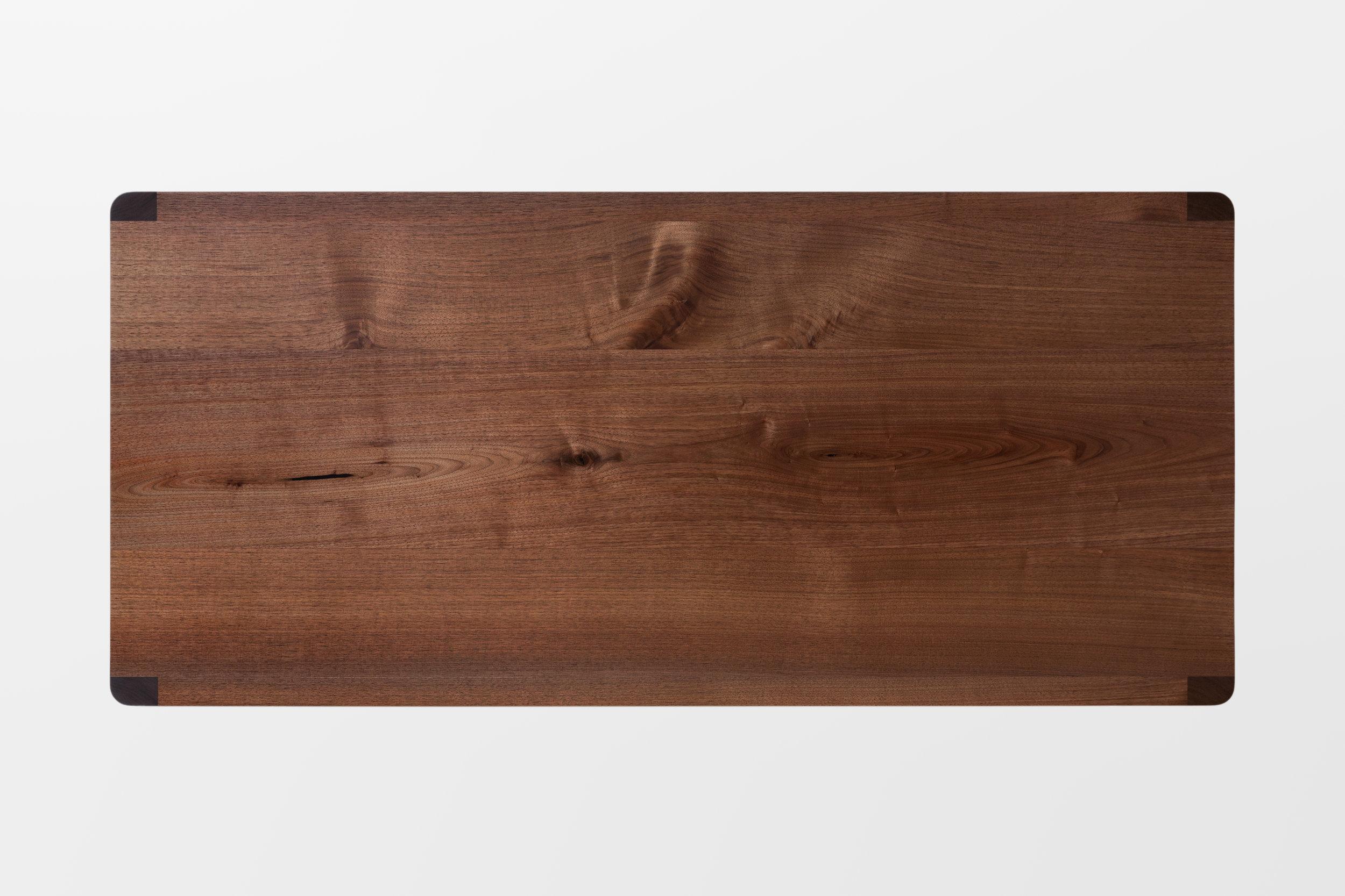 Fina Writing Desk in Solid Walnut by Piet Houtenbos
