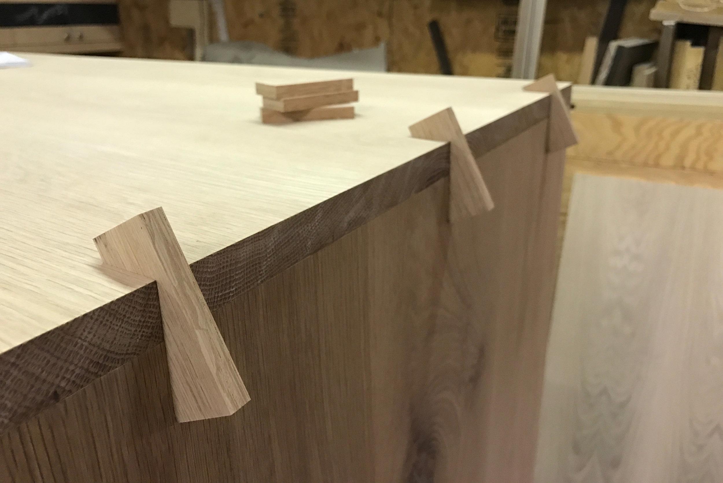 Piet Houtenbos Custom Furniture Spline Joinery