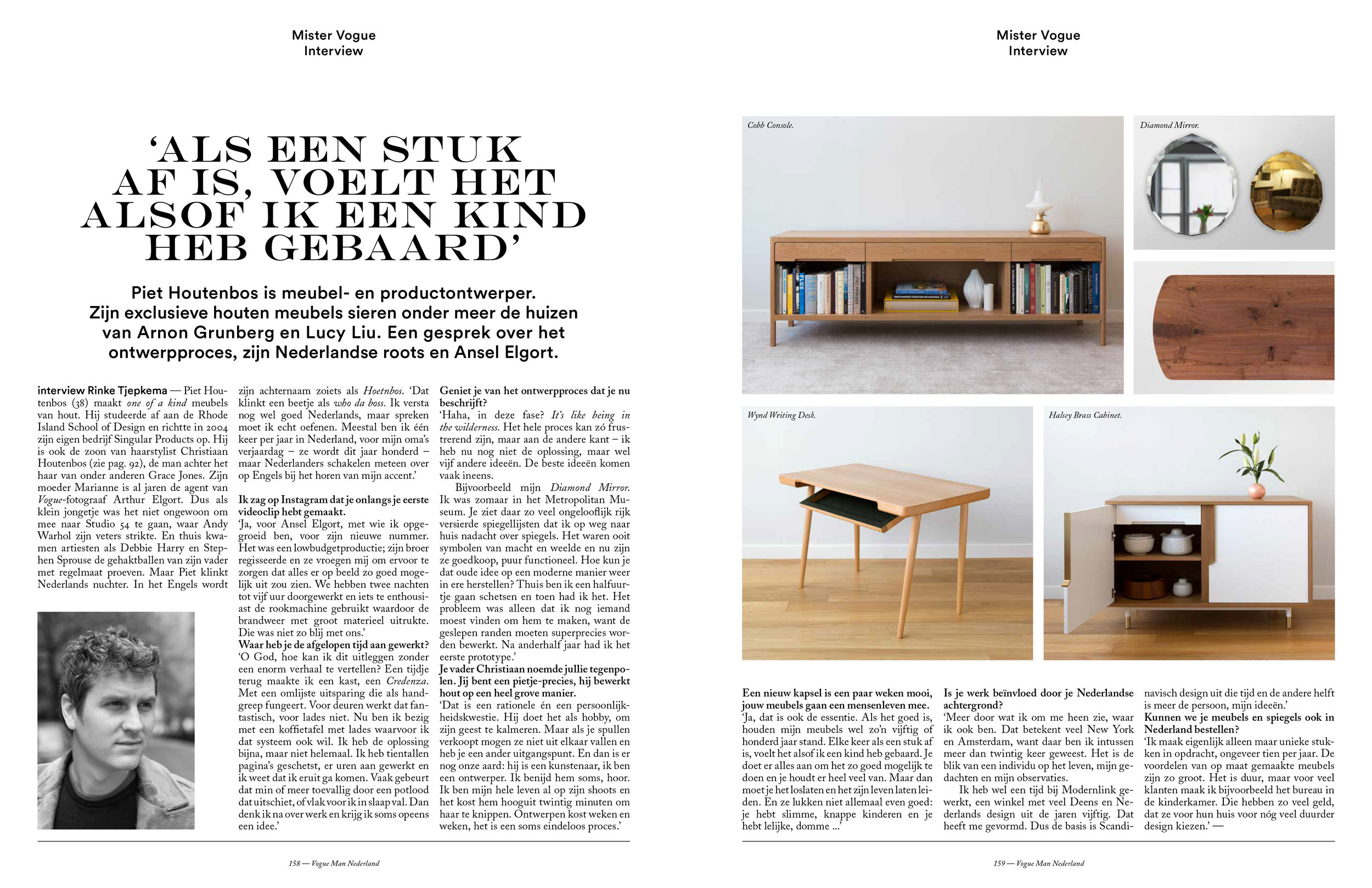 Vogue Man Issue 4 Piet Houtenbos Page 158