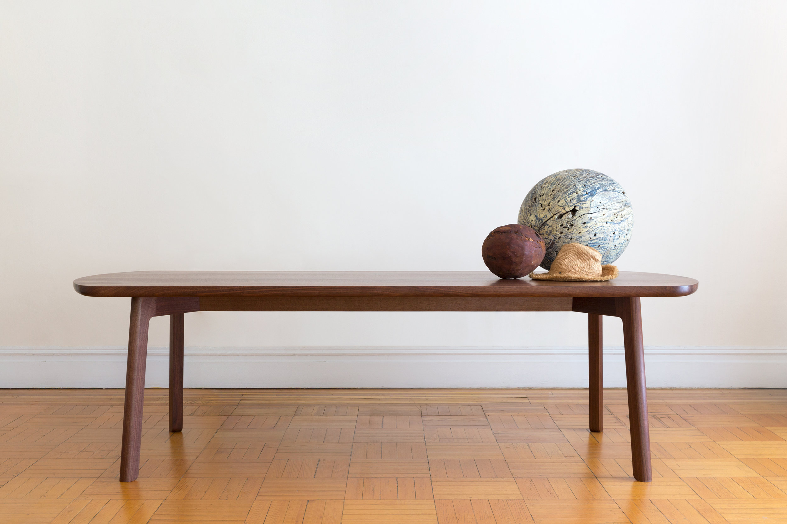 Fowler Dining Table / Solid Slab Black Walnut by Piet Houtenbos