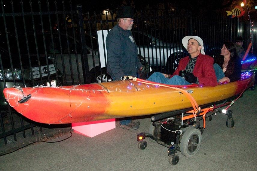 Motorized Kayak Parade