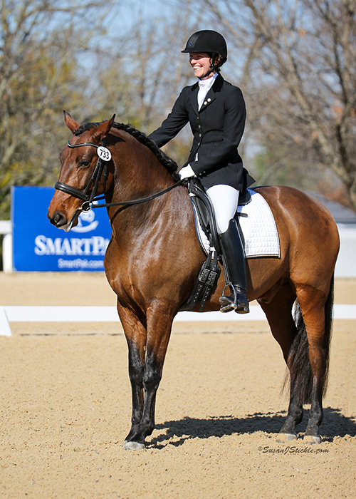 Excalibur at the 2016 US Dressage Finals in Lexington, KY.  Photo: Susan Sickle
