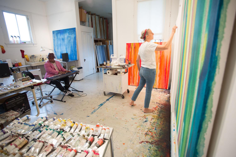 Nicholas Payton and Anastasia Pelias at Pelia's uptown New Orleans studio. 2015.