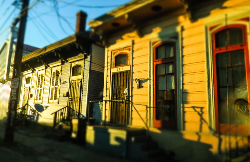 A row of homes on Claiborne Avenue