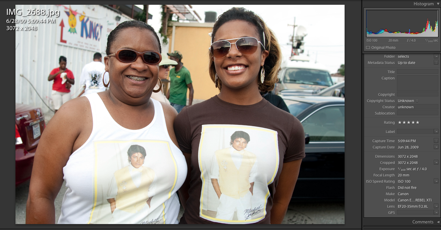 Revelers at the Michael Jackson Memorial 2nd Line. June 28th, 2009. New Orleans ©Zack Smith Photography