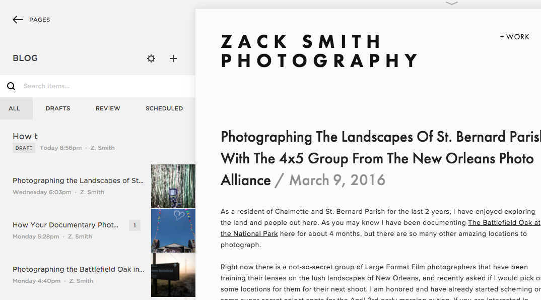 how to archive your squarespace blog