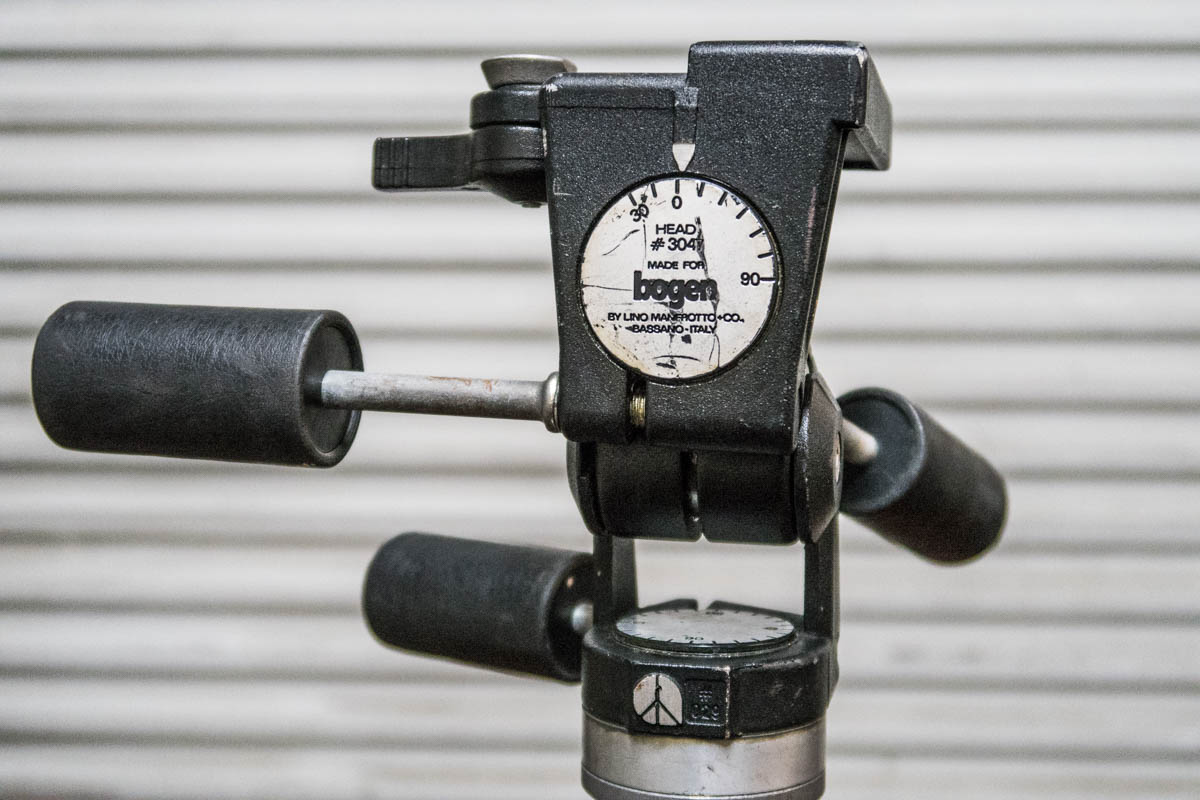 a weathered Bogen #3047 w/ quick plate. This one's for my large format 4x5 Cambo