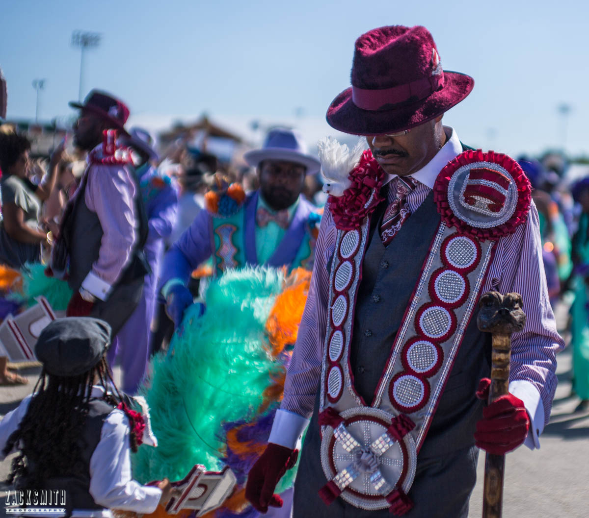 I saw fine threaded fellas doing the Second Line