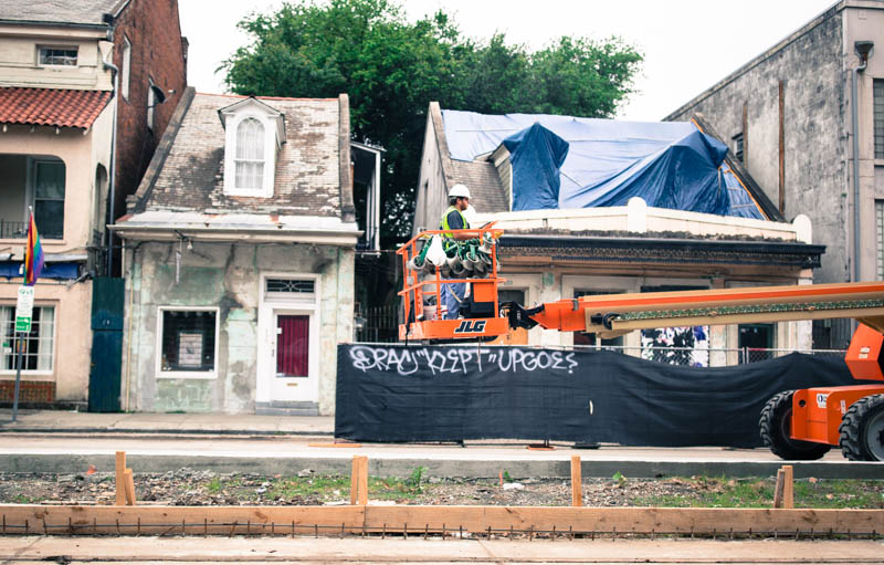Zack Smith Photography New Orleans Crane Construction worker graffiti