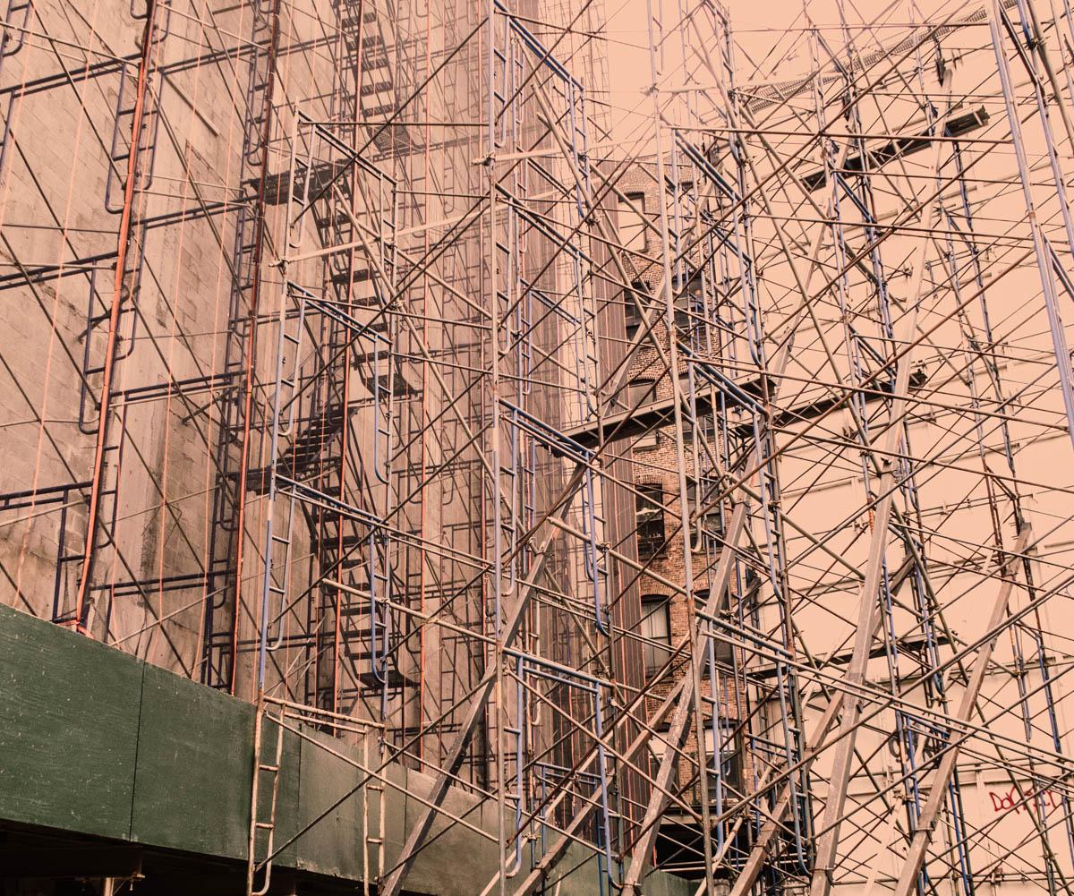 Zack Smith Photography New York City Construction scaffolding