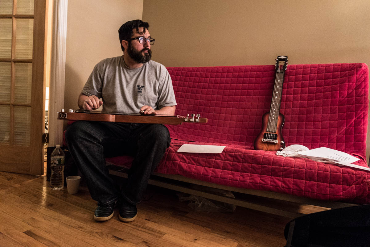 Zack Smith Photography New York City Pilette's Ghost Beard Glasses Man Musician folk instruments