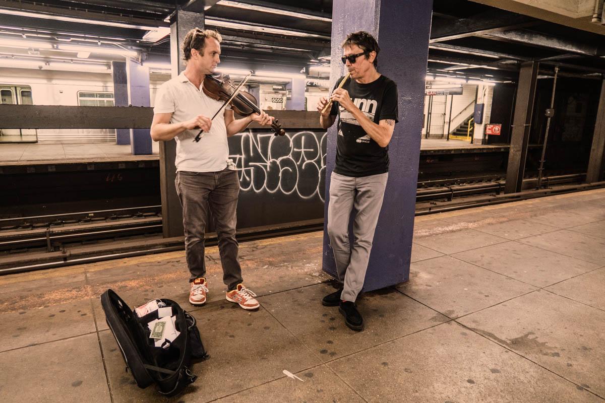 Zack Smith Photography New York City Pilette's Ghost Street Musician Fiddle woodwind instrument subways graffiti