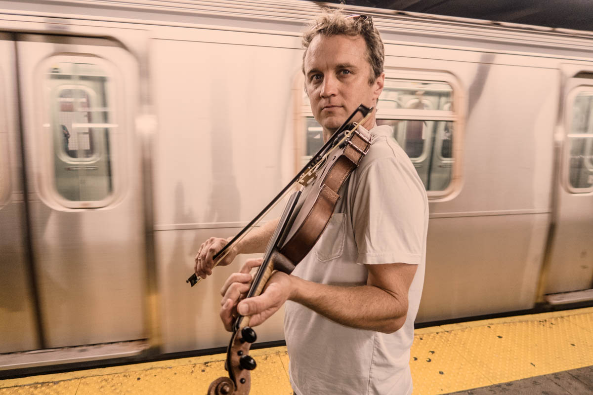 Zack Smith Photography New York City Pilette's Ghost Fiddler Subway Train Folk Music Cajun Music
