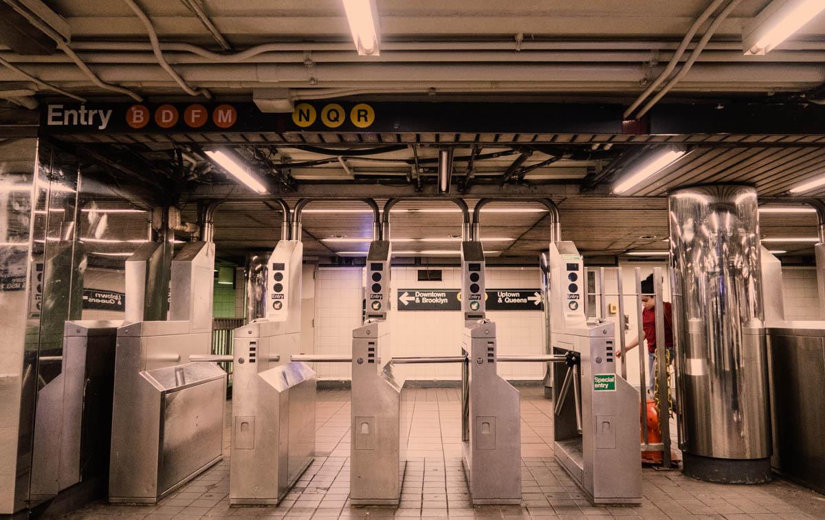 Zack Smith Photography New York City Subway Gate Entry