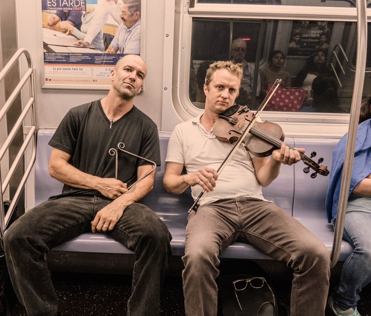 Zack Smith Photography New York City Pilette's Ghost Fiddler Triangle Subway Train