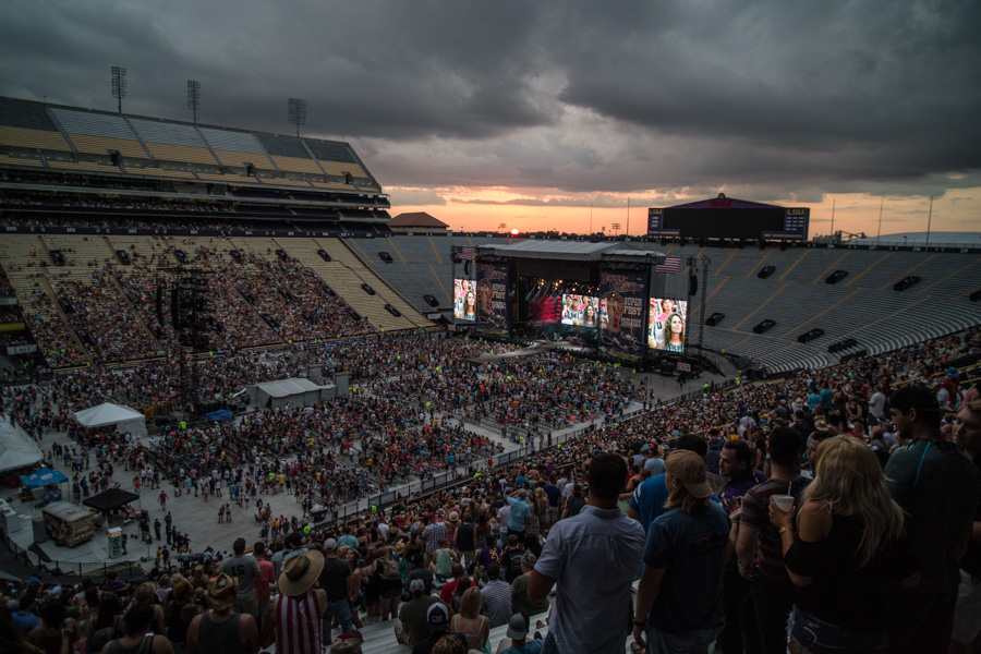 Zack Smith Photography Baton Rouge Bayou Country Superfest 2016 Stage Music Festival Fun crowds people fans stage