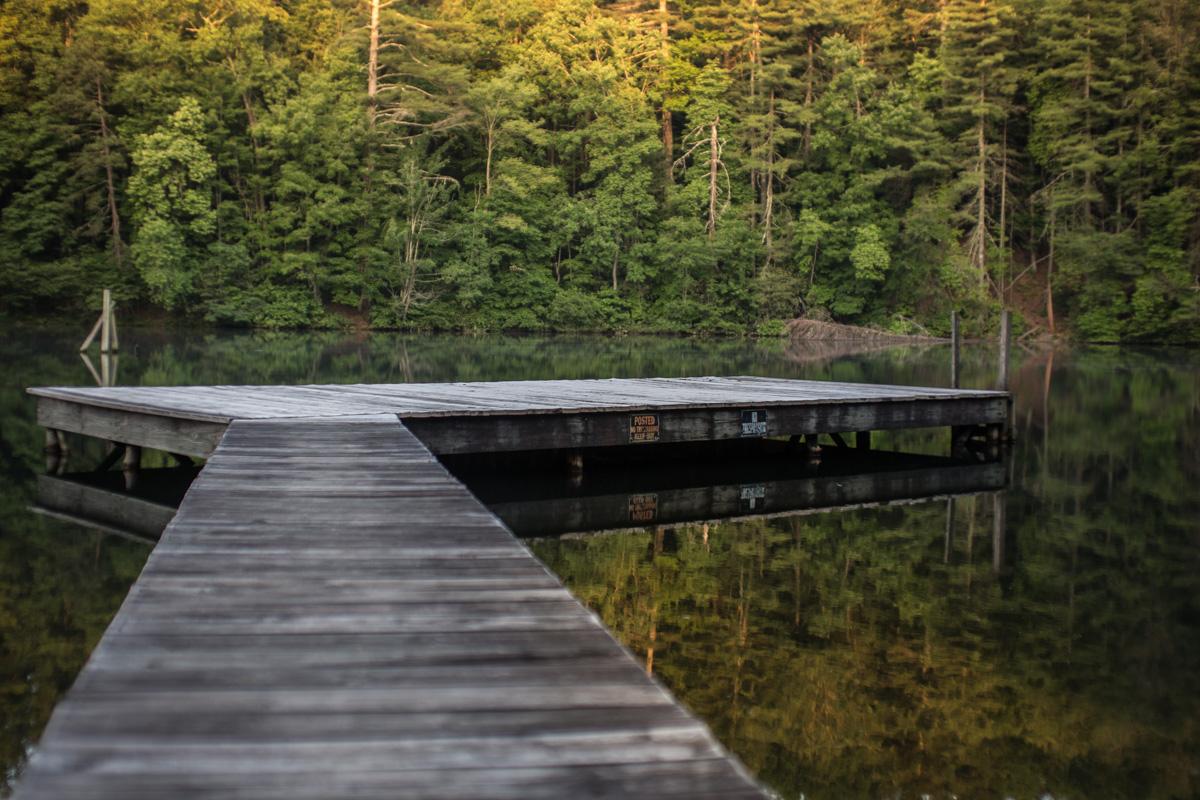 Zack Smith Photography North Carolina Brevard School of Music Center pond bridge nature forest water beautiful scenery